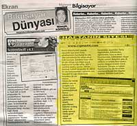 KIBRIS newspaper Saturday Ekran supplement mentioning Cyprus44