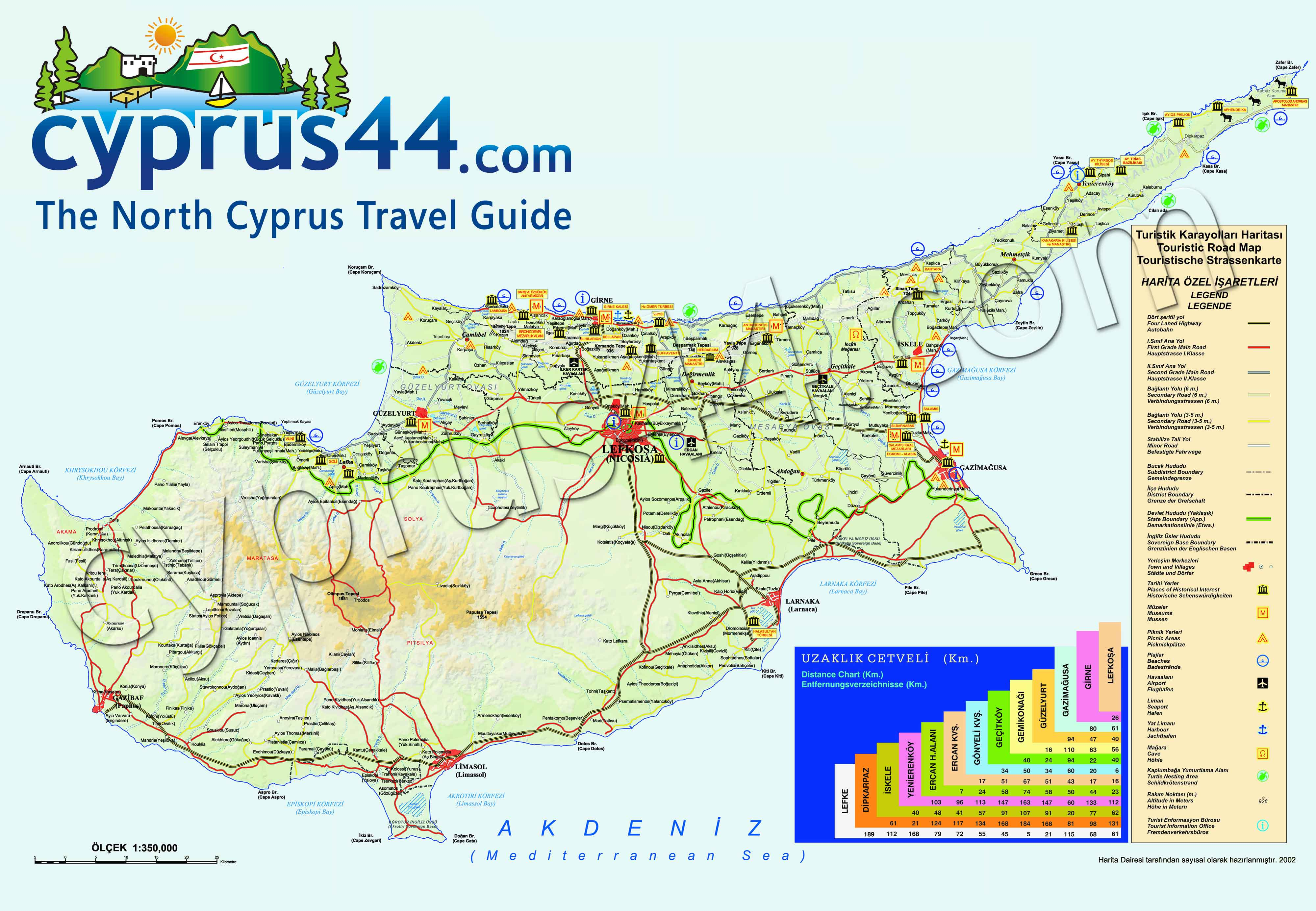North Cyprus Map - Cyprus44, the north cyprus guide