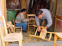 Reed Woven Wooden Chairs